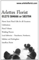 Arlettes the Florist advert