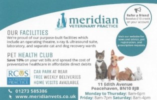 Meridian Vets advertr